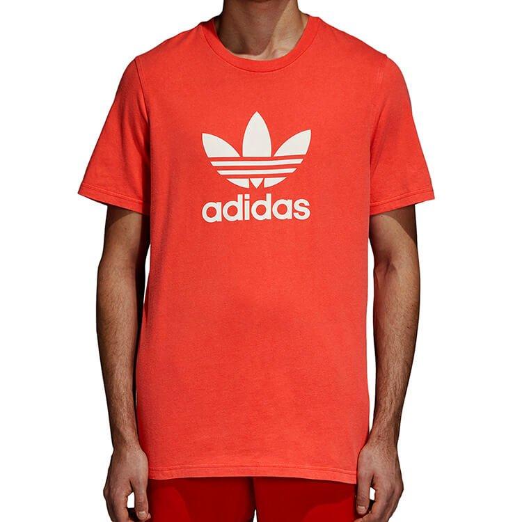 Koszulka męska adidas Originals Trefoil DH5777 | BORDOWY